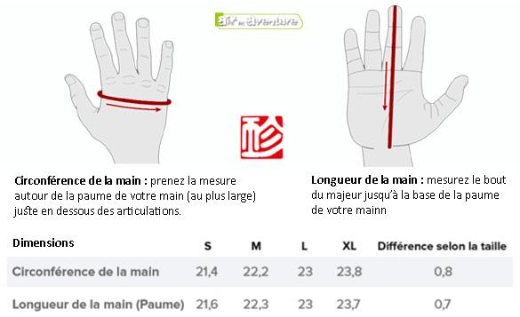 Gin choisir taille gants