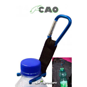 2 mousquetons pour porte bouteille avec ceinture de la marque CAO