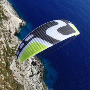 Voile de Paramoteur noire Flux de Sky paragliders