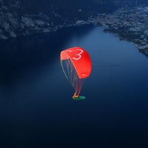 Voile de parapente rouge GT2 par LittleCloud