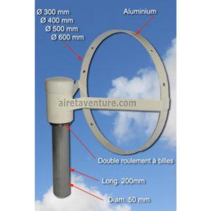 Girouette à cercle de roulements à billes en aluminium