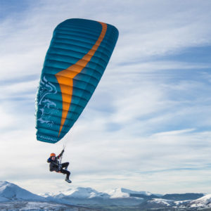 Voile de Parapente Bleue et Orange Griffin de Gin