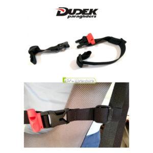 Visuel du kit sangle poitrine Dudek sur une sangle de sellette
