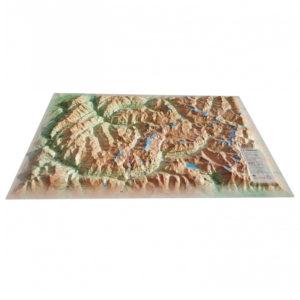 Carte en relief de la Vanoise