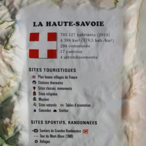 Légende de la carte en relief de la Haute-Savoie