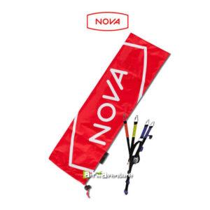Sac de protection pour élévateurs rouge avec le logo Nova