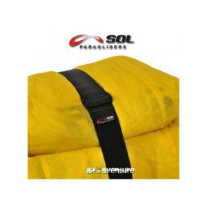 Sangle de compression pour voile de parapente jaune de la marque SOL