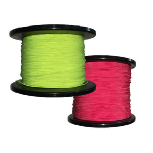 Rouleau de suspente pour parapente en dyneema jaune et rouge
