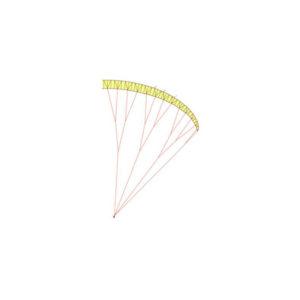 Schéma de suspentage d'un parapente