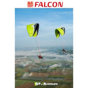 Voile de Paramoteur Verte Citron Falcon de Gin