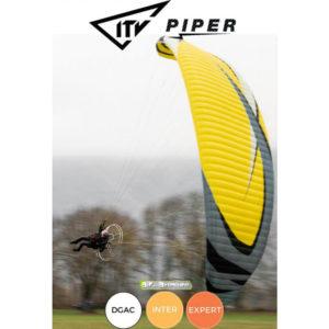 Voile de Paramoteur Jaune Piper par ITV