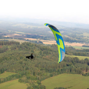 Voile de Paramoteur verte Zorro de Skyparagliders
