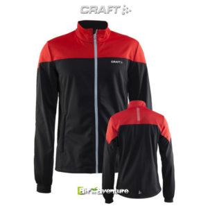 Blouson rouge et noir de la marque Craft