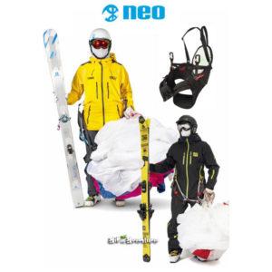 skieurs avec harnais de speedridinhg