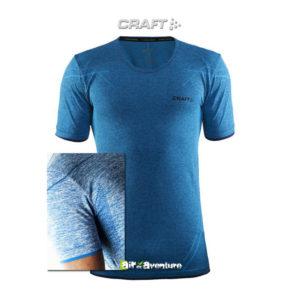 Tee-shirt Craft à Manches Courtes Bleu