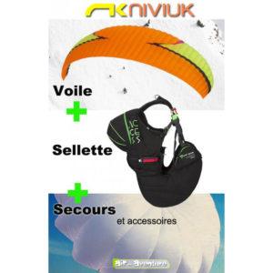 Voile de parapente Koyot 4 avec Sellette Acces et Secours Cires
