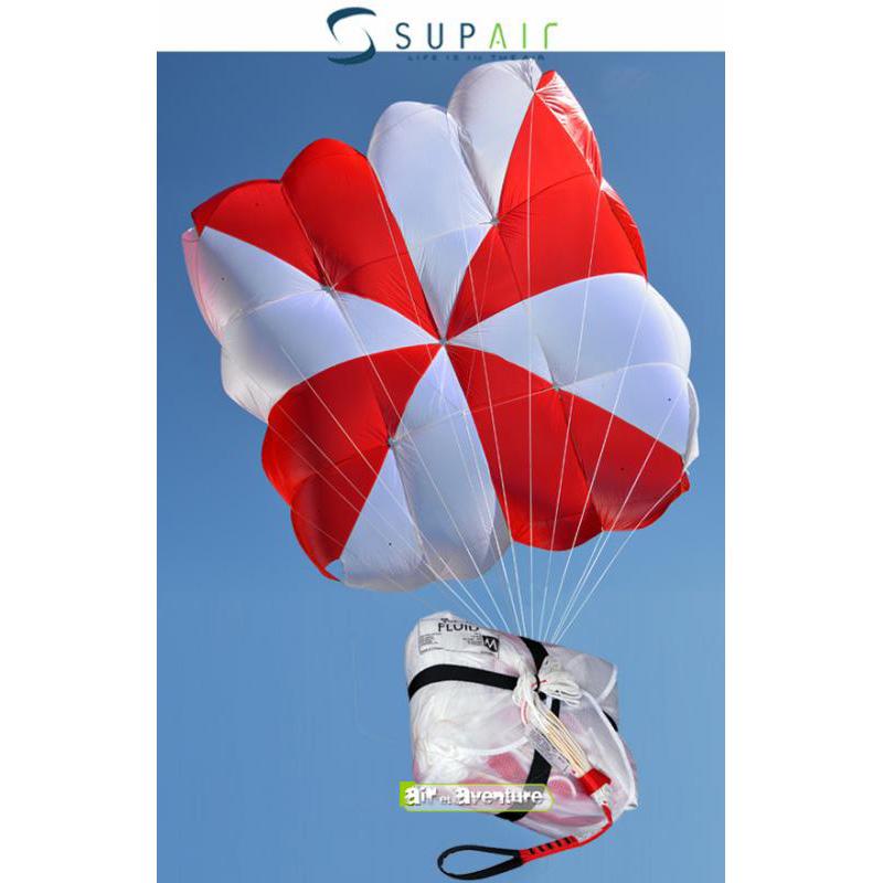 Parachute de Secours Carré blanc et rouge de la marque Supair
