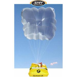 Parachute de Secours carré blanc de la marque Sky Paragliders