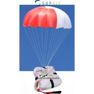 Parachute de Secours blanc et rouge Supair