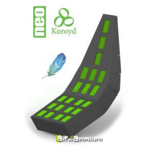 Protection dorsale longue en Koroyd