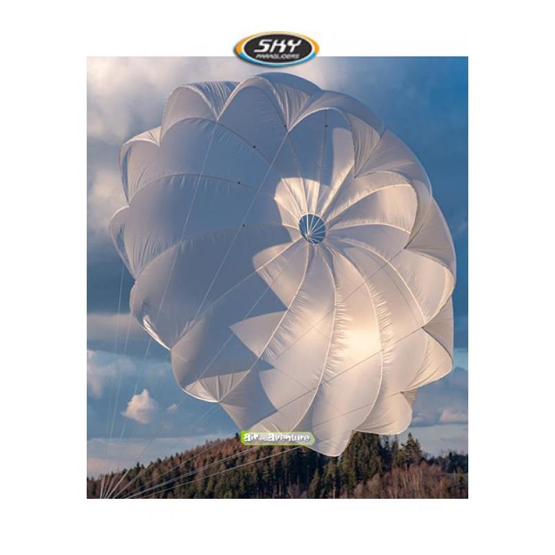 Parachute de secours blanc de la marque Sky Paragliders