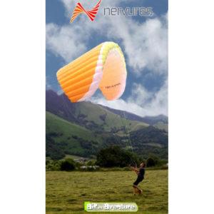 Voile de Speedflying Orange Swoop XP de la marque Nervures