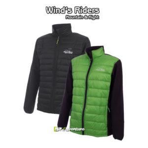 Vestes coupe vent verte et noire