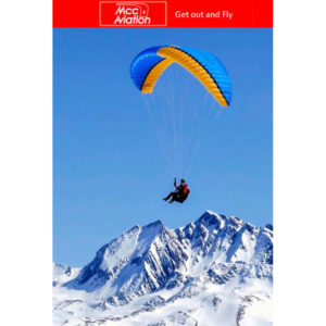 Voile de parapente Bleue et Orange Amaya 3 de MCC Aviation