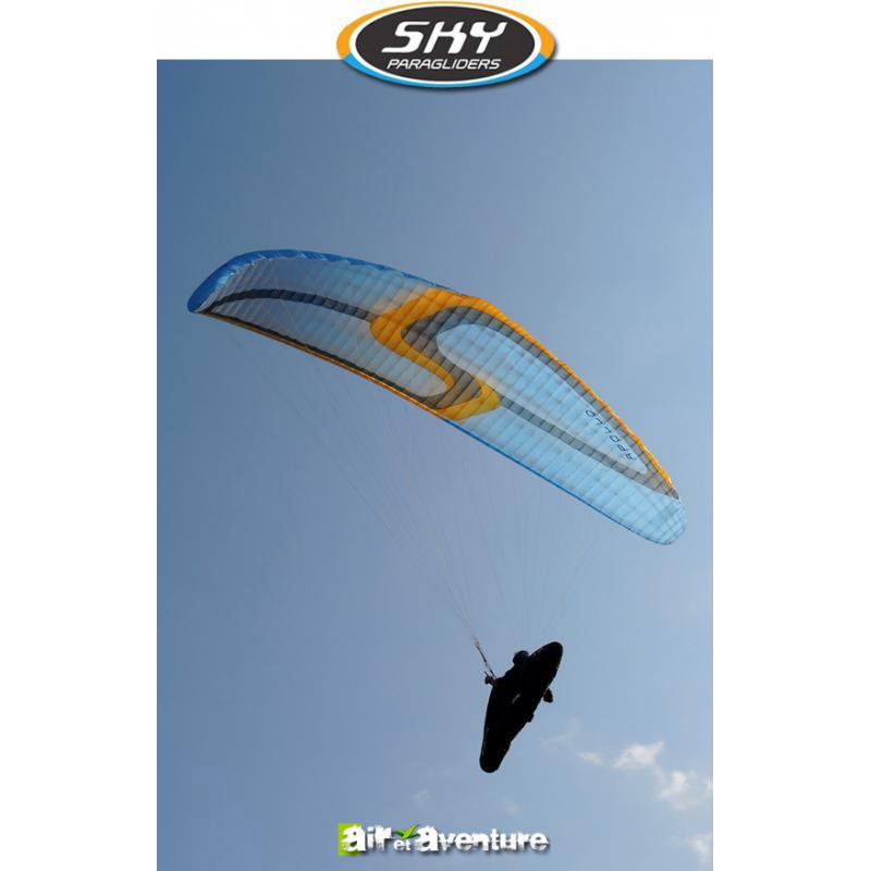 Voile de parapente Bleue et Orange Appolo 2 de Skyparagliders
