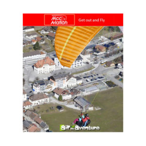 Voile de parapente Biplace Orange Beluga 4 par MCC Aviation