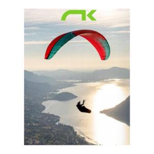 Voile de parapente Rouge et Verte Ikuma 2 de la marque Niviuk