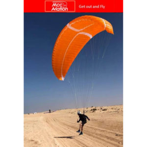 Voile de parapente Orange Arrola 2 de MCC Aviation