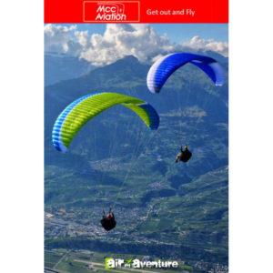 Voiles de parapente Orbéa 2 Verte et Bleue par MCC Aviation