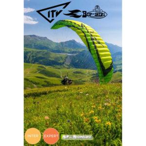 Voile de parapente Verte et Noire Bip-Bip 2 par ITV