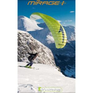 Voile de Speedriding Verte Mirage RS Plus de Swing