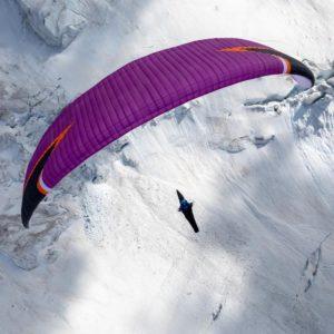 Voile de parapente violette Icepeak Evox Niviuk