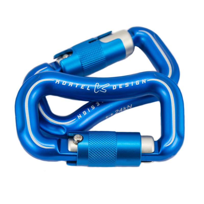 Mousqueton auto bleu de Kortel