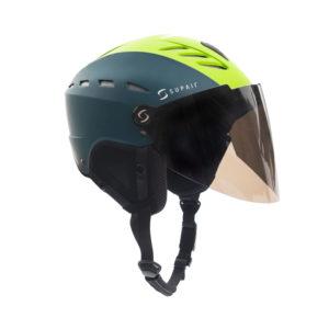 Casque de parapente à visière vert Supairvisor de la marque Supair