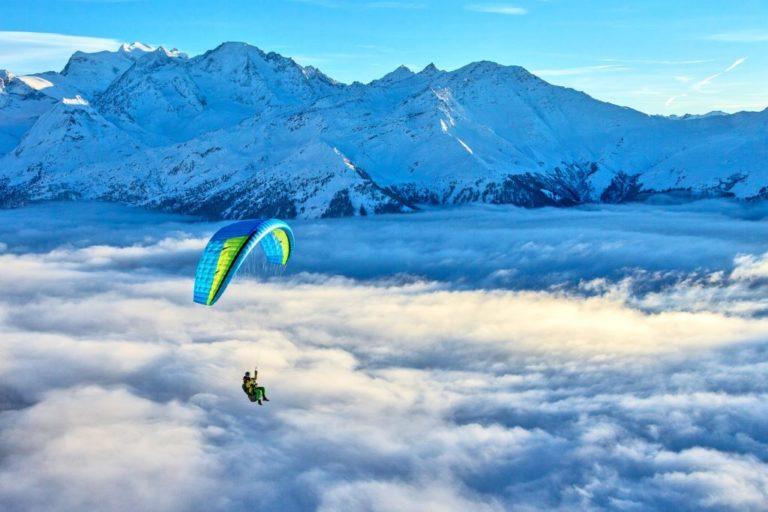 Voile monosurface Skin 3P Niviuk vol au dessus des nuages