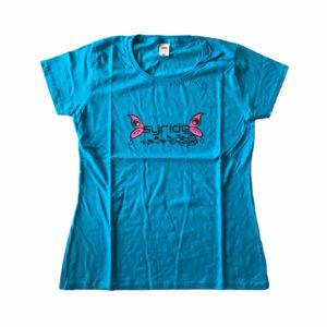 T-shirt à motif papillon bleu de Syride