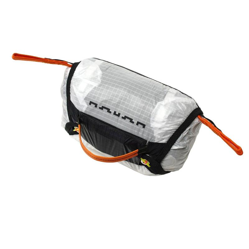 Container ventral blanc pour parachute de secours