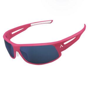 Lunettes solaires à monture rose de la marque Altitude Eyewear